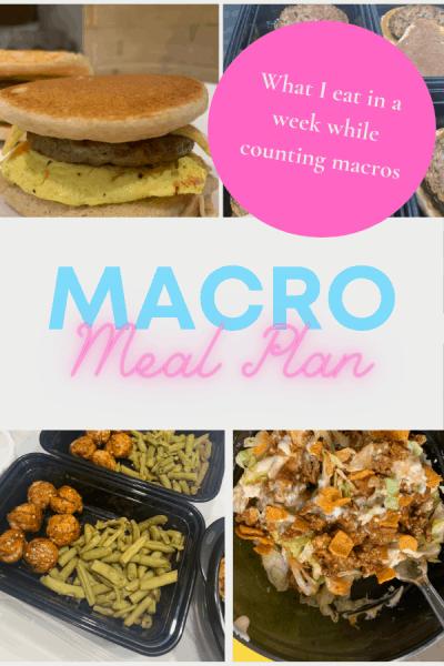 Meal plan for macros